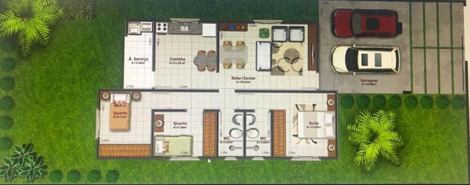 Casa  com 3 quartos sendo 1 suíte no Jardim Jockey Club, Cuiabá  - MT