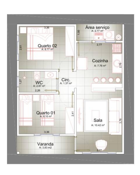 Casa  com 2 quartos no Mirante do Parque , Cuiabá  - MT